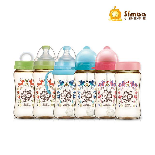 《小獅王辛巴》桃樂絲PPSU自動把手寬口雙凹中奶瓶(270ml)