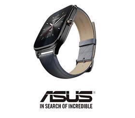ASUS ZenWatch2 快充進化版 (率性運動咖 附伯爵藍悠遊卡錶帶)