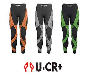 U.CR+必和-竹炭機能壓力自行車褲