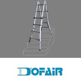 DOFAIR多惠-專業多用途可調式鋁梯 (5呎無限梯)