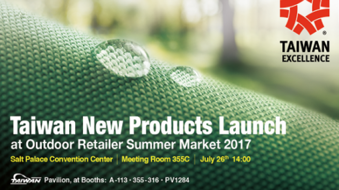 Taiwan New Products Launch at Outdoor Retailer Summer Market 2017