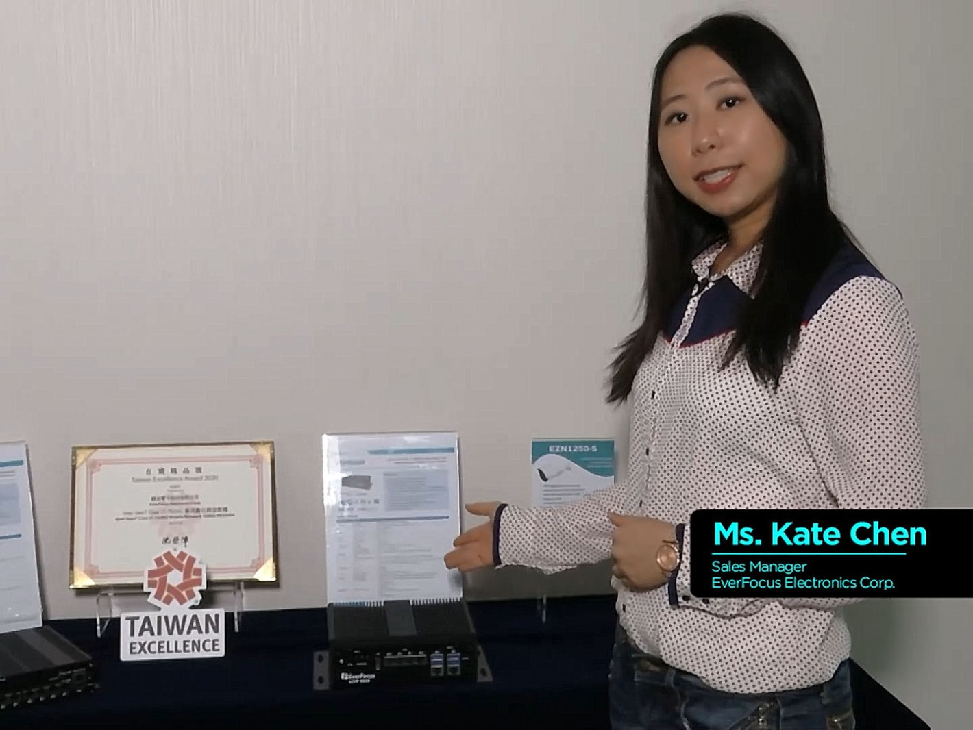 04-Ms. Kate Chen, Sales Manager, EverFocus Electronics Corp. presented on the topic of  Fleet Management System using AI at the Edge.