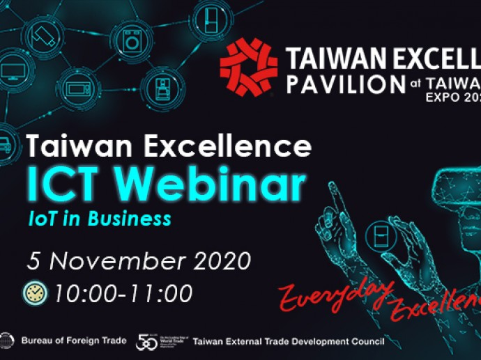 Taiwan Excellence ICT Webinar Promotes Taiwan-Thailand Cooperation, Creating IoT Commercial Possibilities