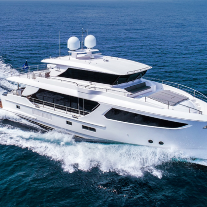 Horizon Yachts' 77 feet luxury motor yacht, winner of the 28th Taiwan Excellence Awards