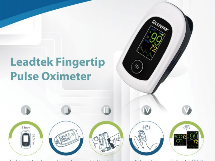 Fighting Against the Coronavirus Leadtek Oximeter Assists Early Self-Diagnosis