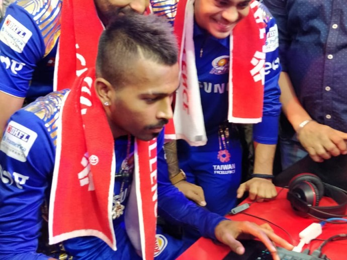 Mumbai Indians bowled over by latest tech gizmos at Taiwan Pavilion