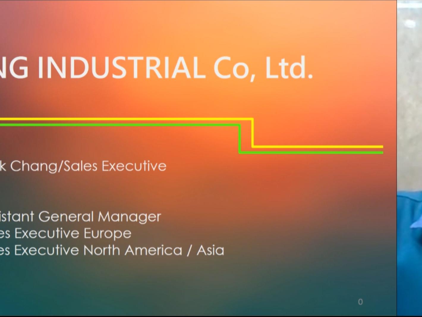 Mr. Nick Chang(Sales Executive)from She Hong(Hartford)