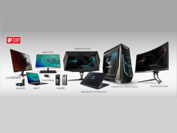 Acer Wins 12 iF Design Awards 2018