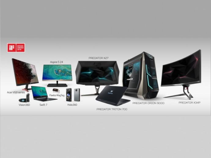 Acer Wins 12 iF Design Awards 2018