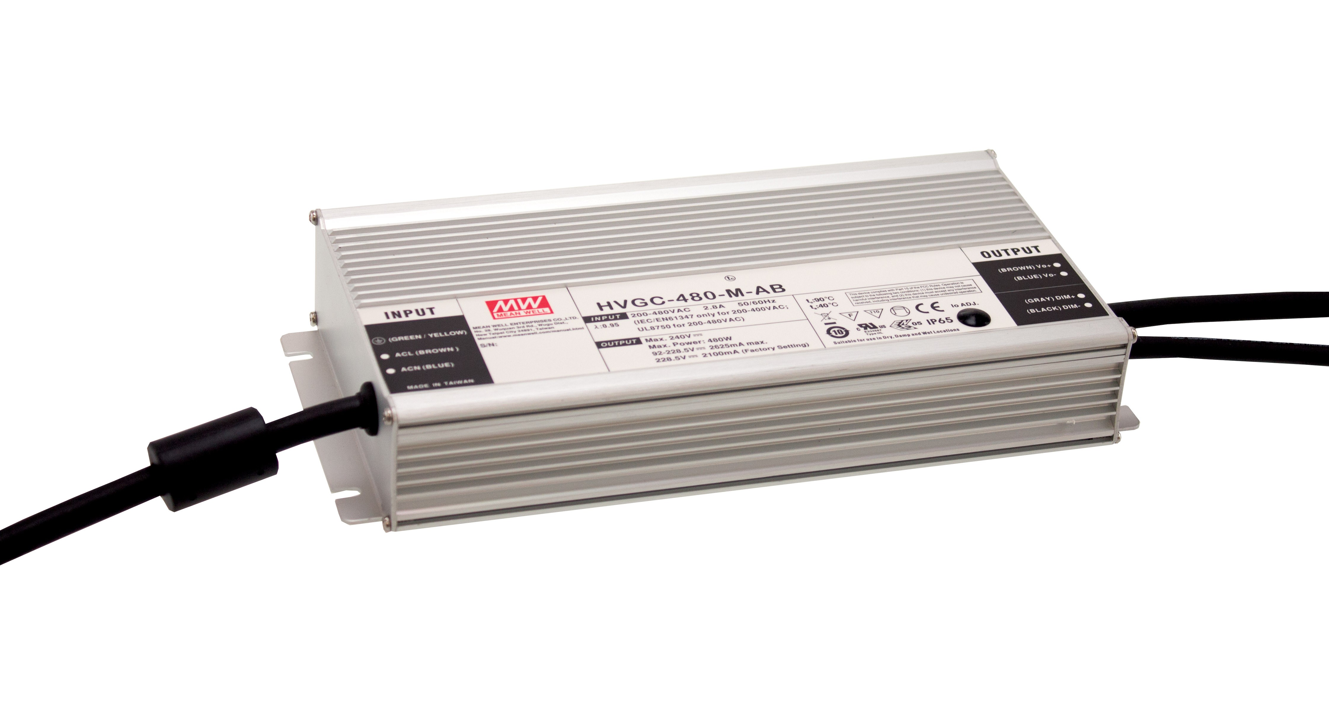 Wide Input with Dimmable Constant Power Mode LED Driver / MEAN WELL ENTERPRISES CO., LTD.