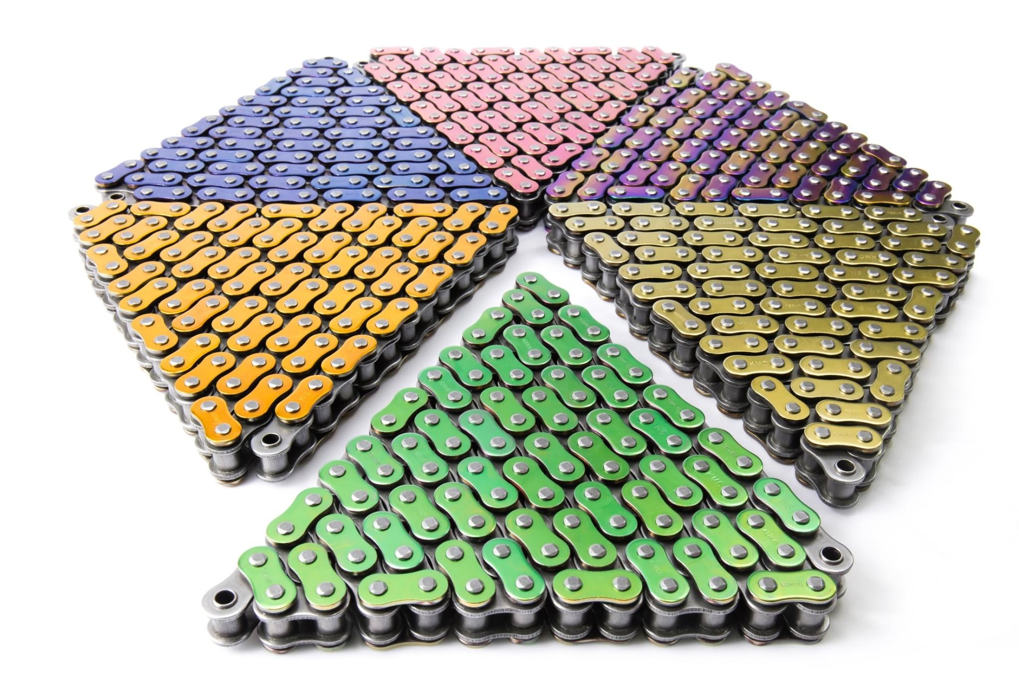 彩色陶瓷鍍膜機車鏈條