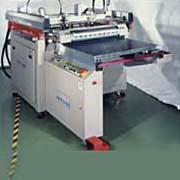 四柱機械式自動退料網印機+黏塵滾筒及靜電消除棒 / 東遠精技工業股份有限公司