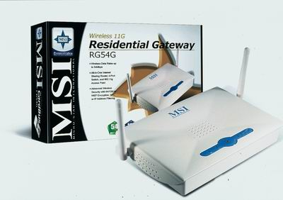 Wireless 11g Residential Gateway / Micro-Star International Company Limited