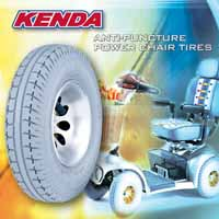 Anti-Puncture, Anti-blowout tire for power chair or electro scooter / KENDA RUBBER INDUSTRIAL CO., LTD.