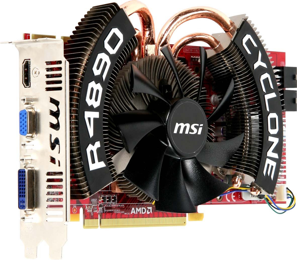 Graphics card with extra large 10CM silent cooler