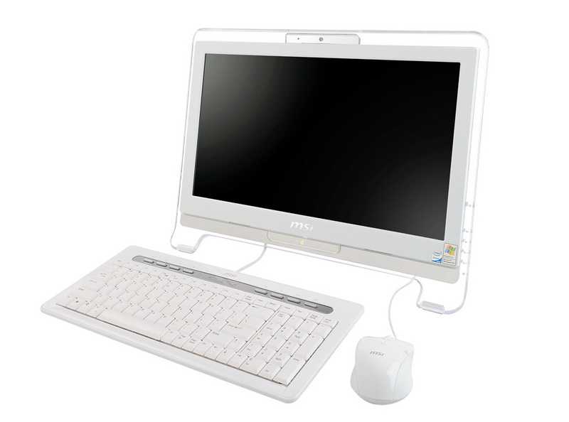 The Fashionable and Glassy Frame All-in-one PC / MICRO-STAR INTERNATIONAL CO.,LTD.