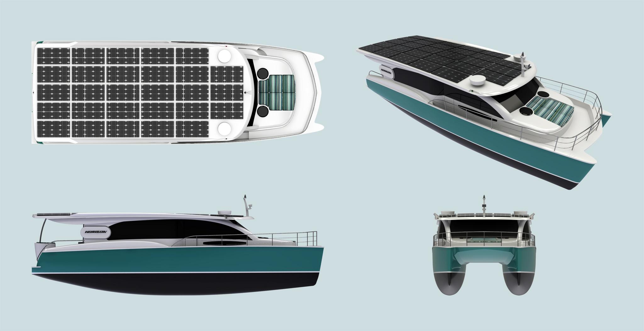 46呎太陽能動力遊艇