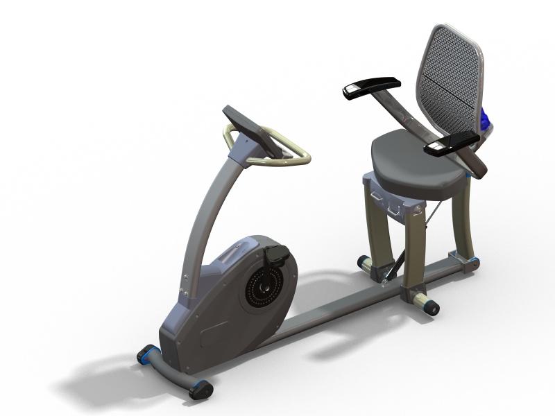 座部可調斜躺式健身車