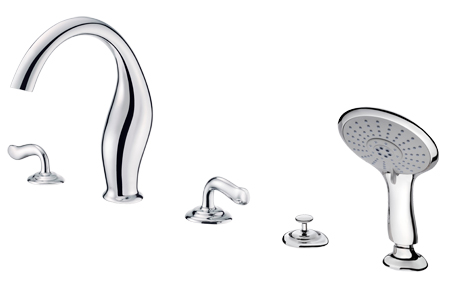 ETHER Two-Handle Bathtub Faucet W/Hand Shower / SHENG TAI BRASSWARE CO., LTD.