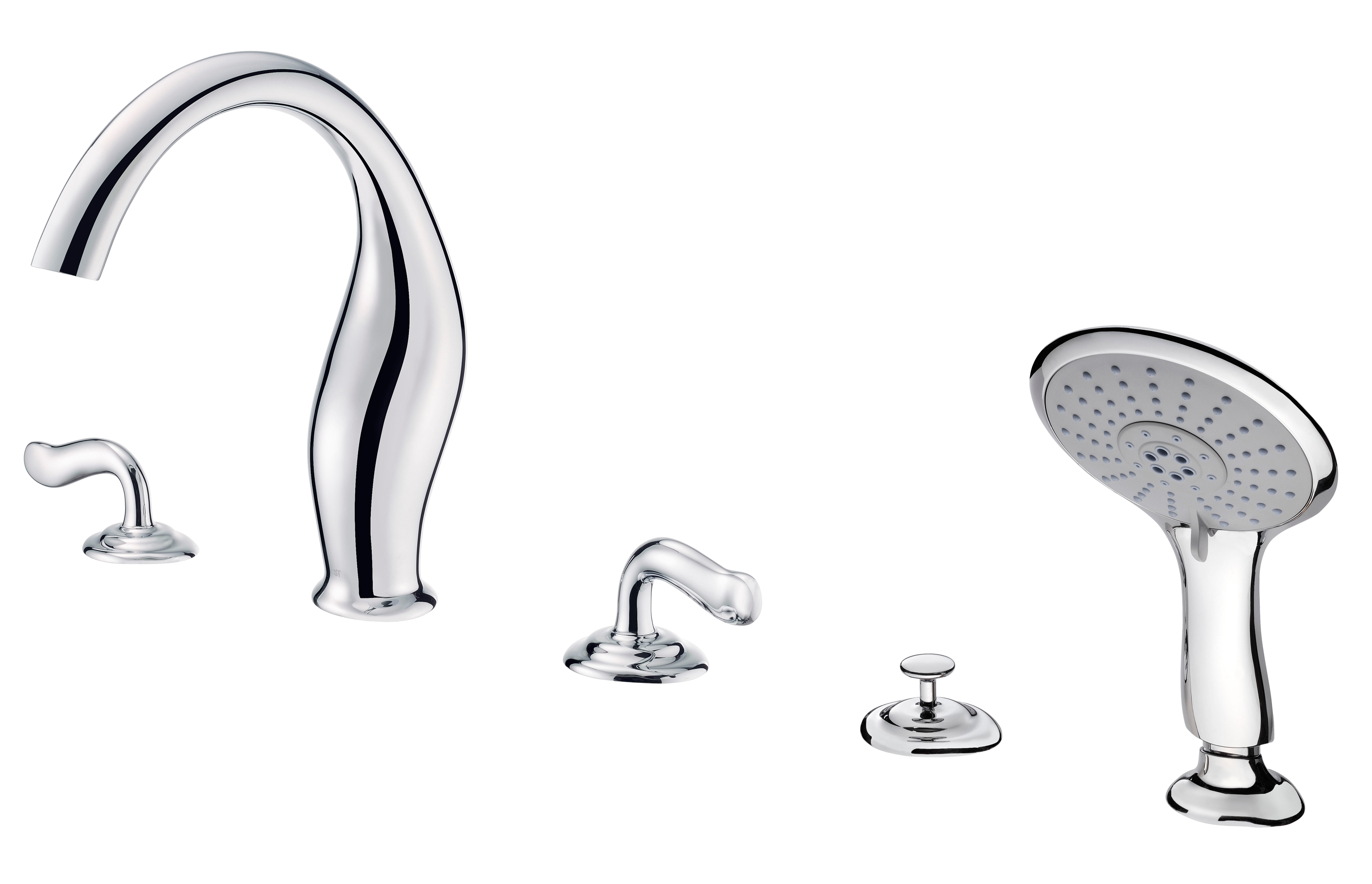 ETHER Two-Handle Bathtub Faucet W/Hand Shower