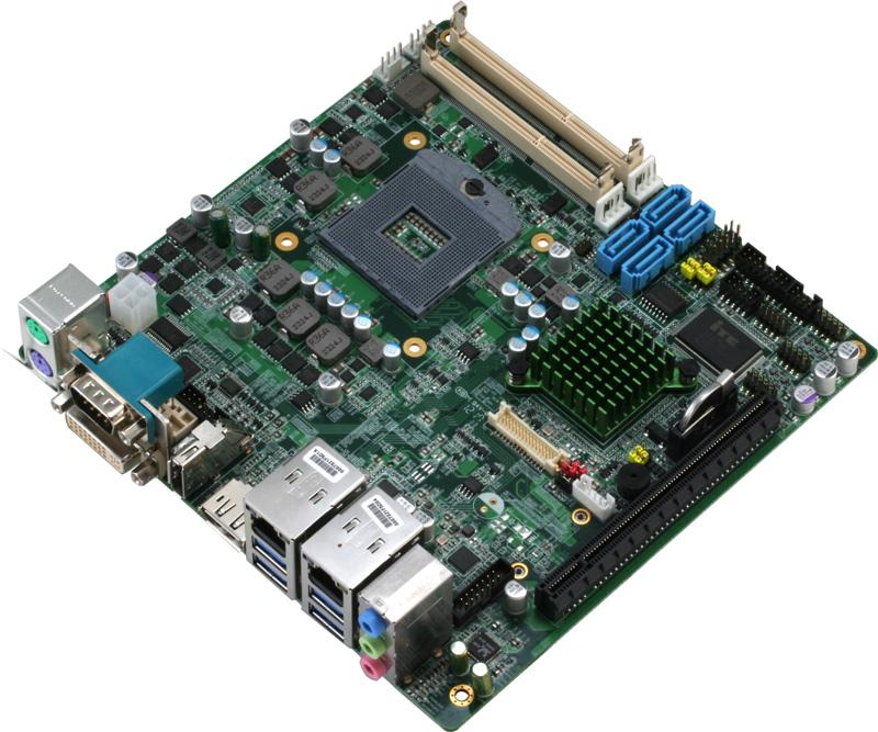 英特爾第三代Core處理器Mini-ITX嵌入式工業電腦主板 / 研揚科技股份有限公司