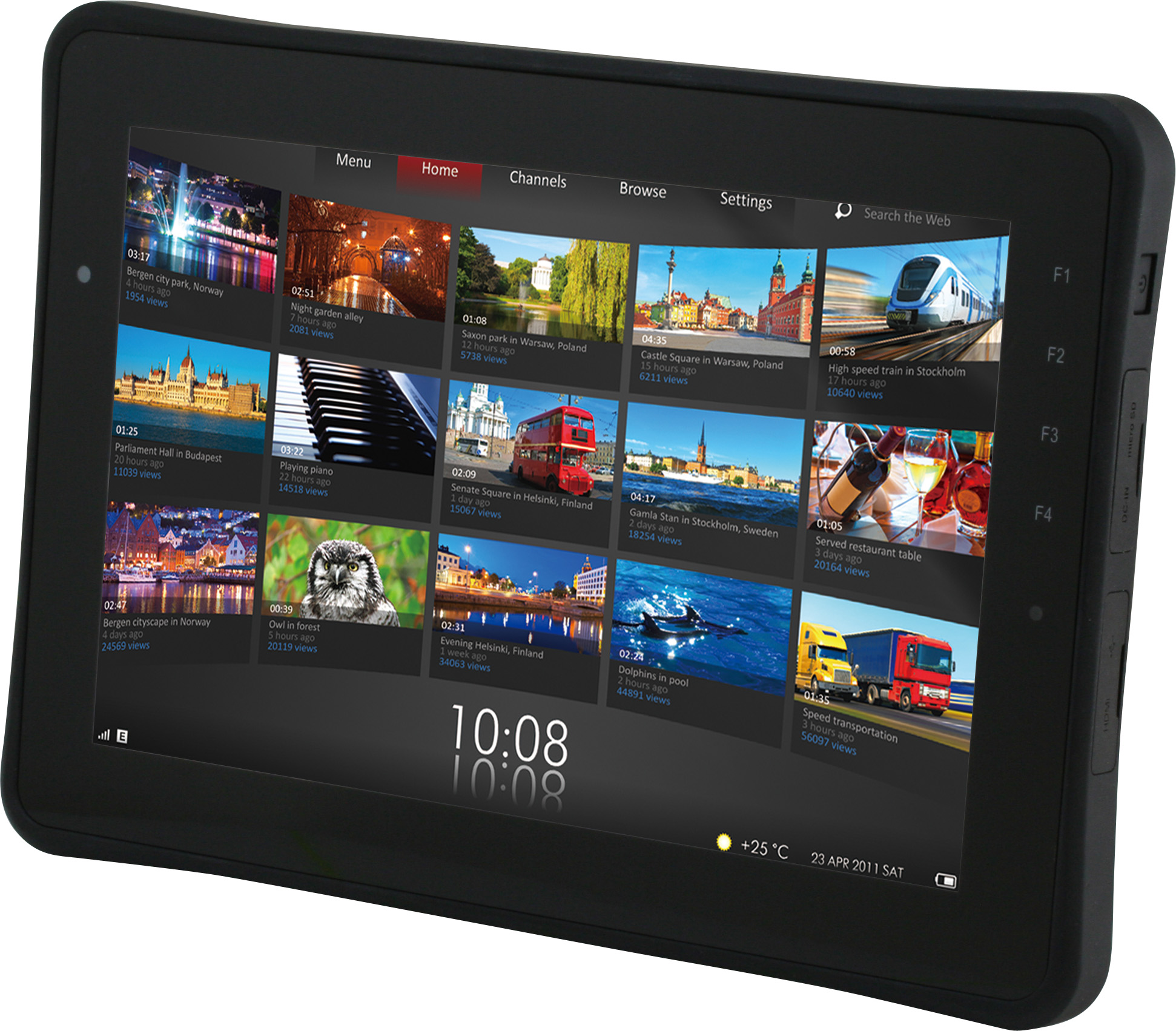 IP65強固型Android平板電腦