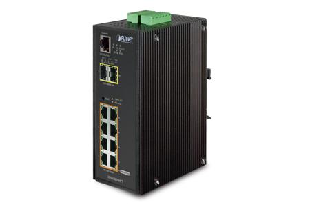 工業高階智慧管理240瓦高功率乙太網路供電交換器 / 普萊德科技股份有限公司