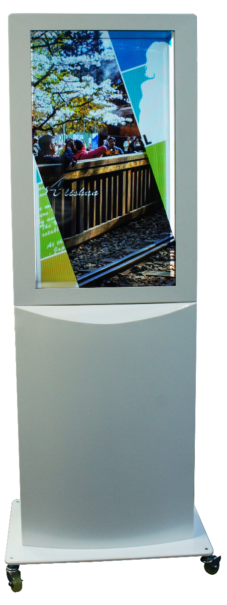 "32"" Transparent Double-screen Digital Signage Display System"