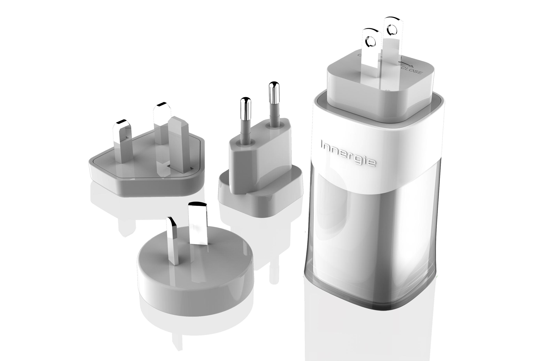 PowerGear ICE- 冰晶美型65瓦旅用萬國插座式筆電電源充電器