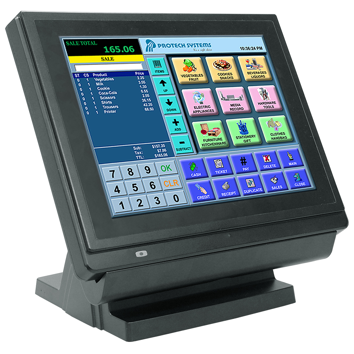 "12"" True Flat Touch POS"