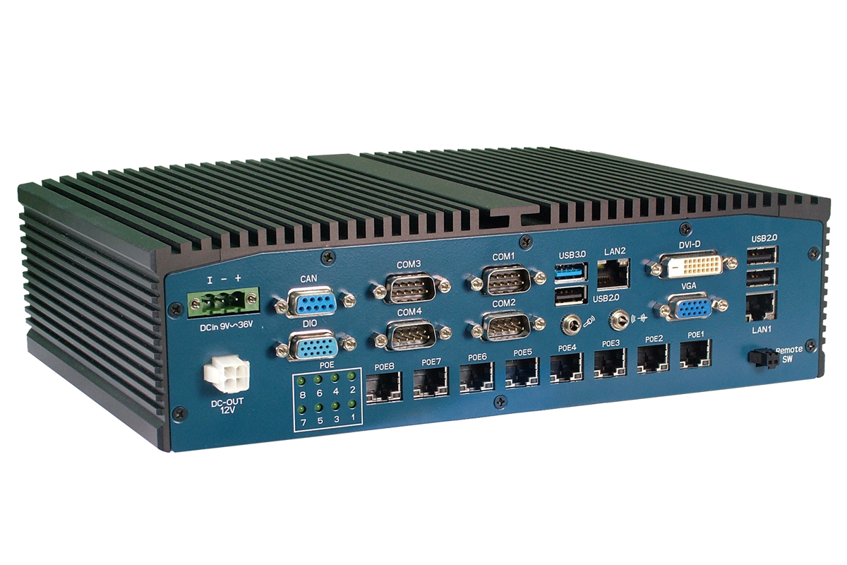 Rich I/O Embedded PC for Transportation