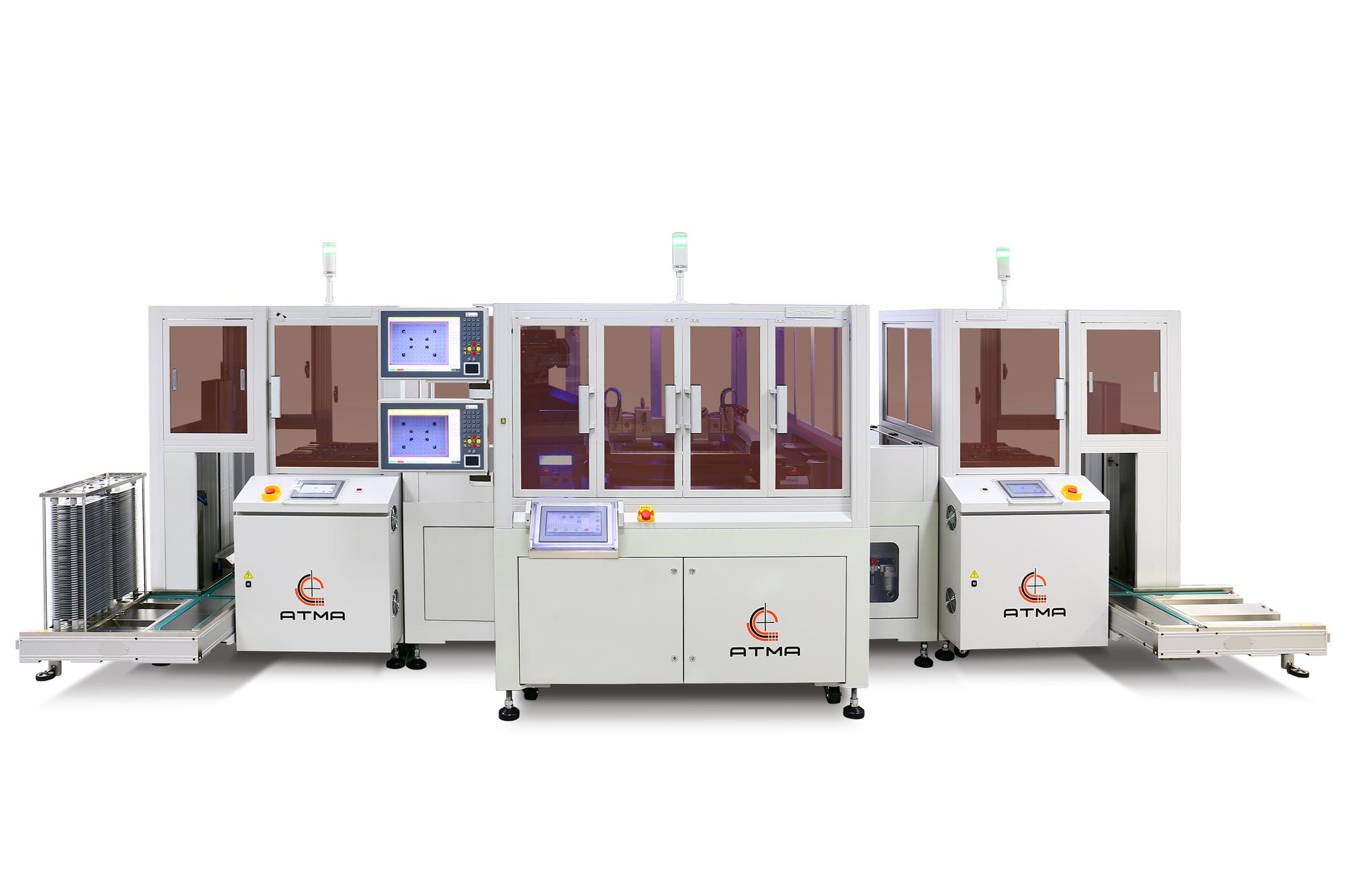 全自動手機玻璃網印生產線
