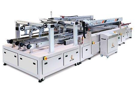 全自動玻璃網印機(游樑式) / 東遠精技工業股份有限公司