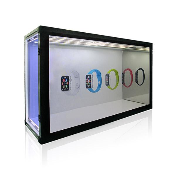 連網互動式數位觸控透明展示機 / 凌暉科技股份有限公司