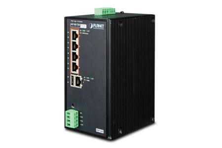 工業級再生能源供電802.3at PoE網管軌道式交換器 / 普萊德科技股份有限公司