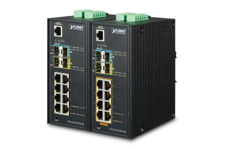 工業級超高速乙太網10G光纖網管軌道式交換器系列 / 普萊德科技股份有限公司