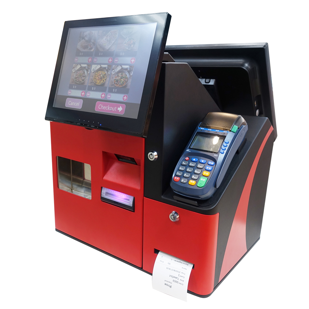 Multifunctional semi-self payment KIOSK