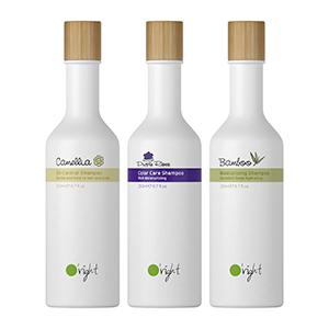 100% Renewable bottle shampoo /  Hair O'right International Corp.