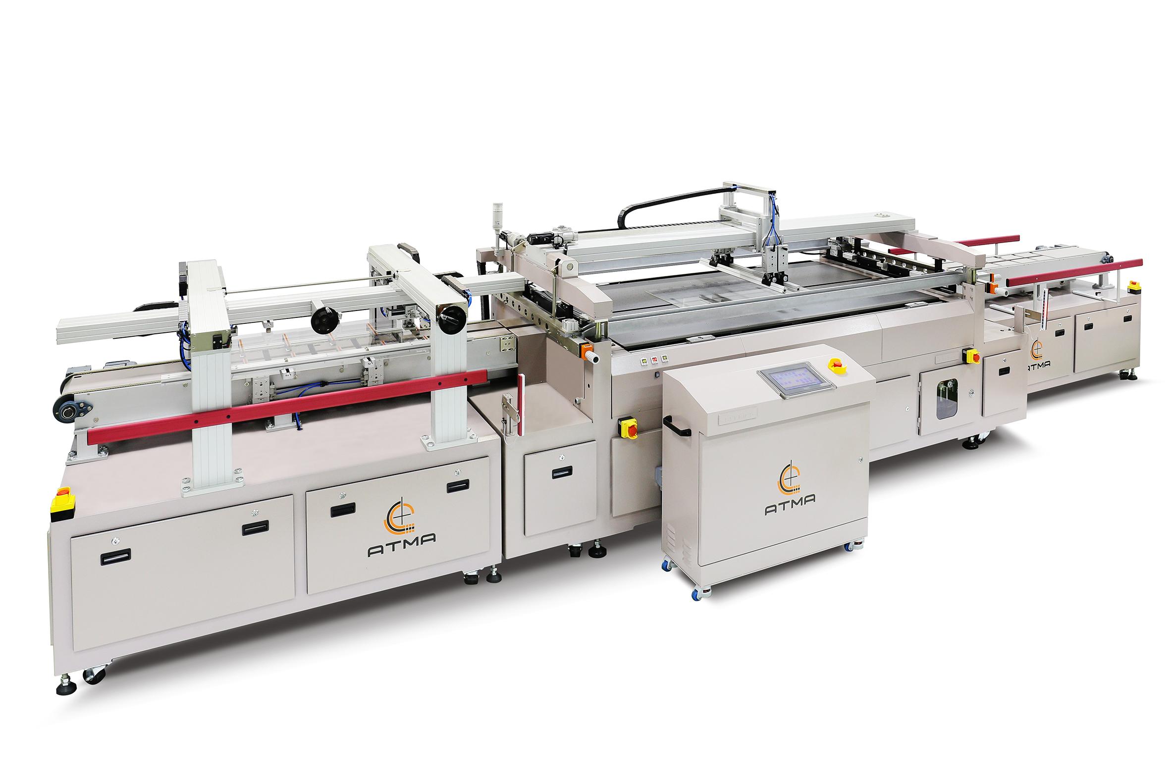 平板玻璃自動網印機(游樑式)