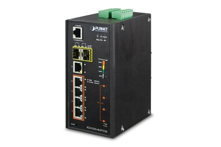 工業級Modbus 4埠60瓦PoE網管型交換器 / 普萊德科技股份有限公司