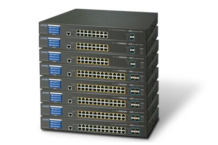 彩色觸控LCD 10G智慧網管型交換器系列 / 普萊德科技股份有限公司
