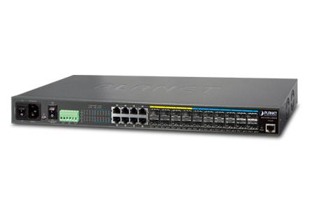 12埠10G光纖第三層靜態路由網管型交換器 / 普萊德科技股份有限公司
