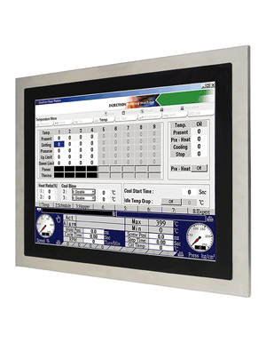 Fanless & Low power 17 inch stainless steel flat touch panel PC / Protech Systems Co., Ltd.