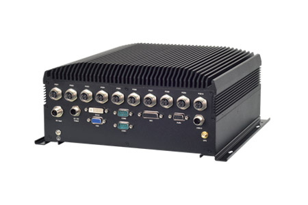 Fanless Railway Surveillance Computer with Multiple PoE Ports