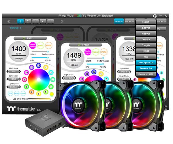 Riing Plus 14 LED RGB水冷排風扇TT Premium頂級版 / 曜越科技股份有限公司
