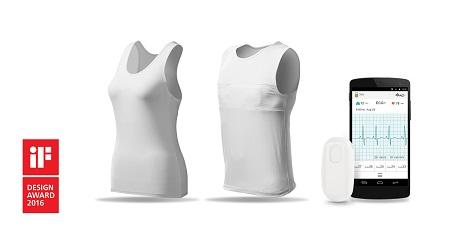 XYZlife單導攜帶式心電圖機搭配智慧衣