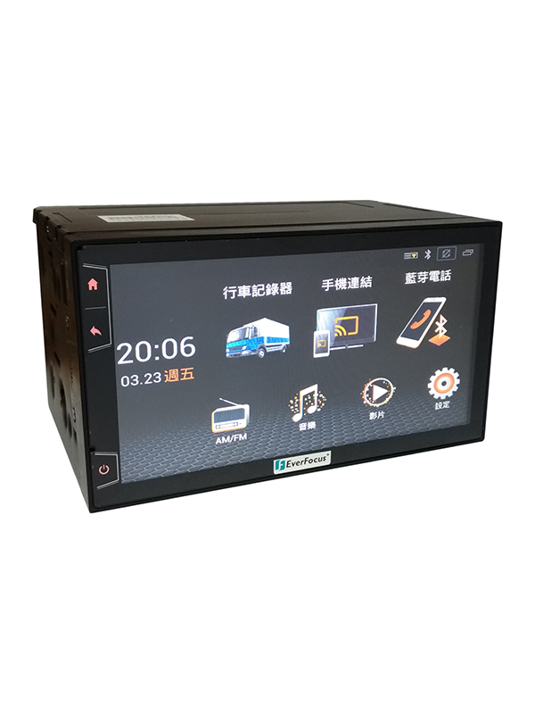 "7"" Driver Assistant Multimedia System4CH 1080p FHD All-in-One DVR"