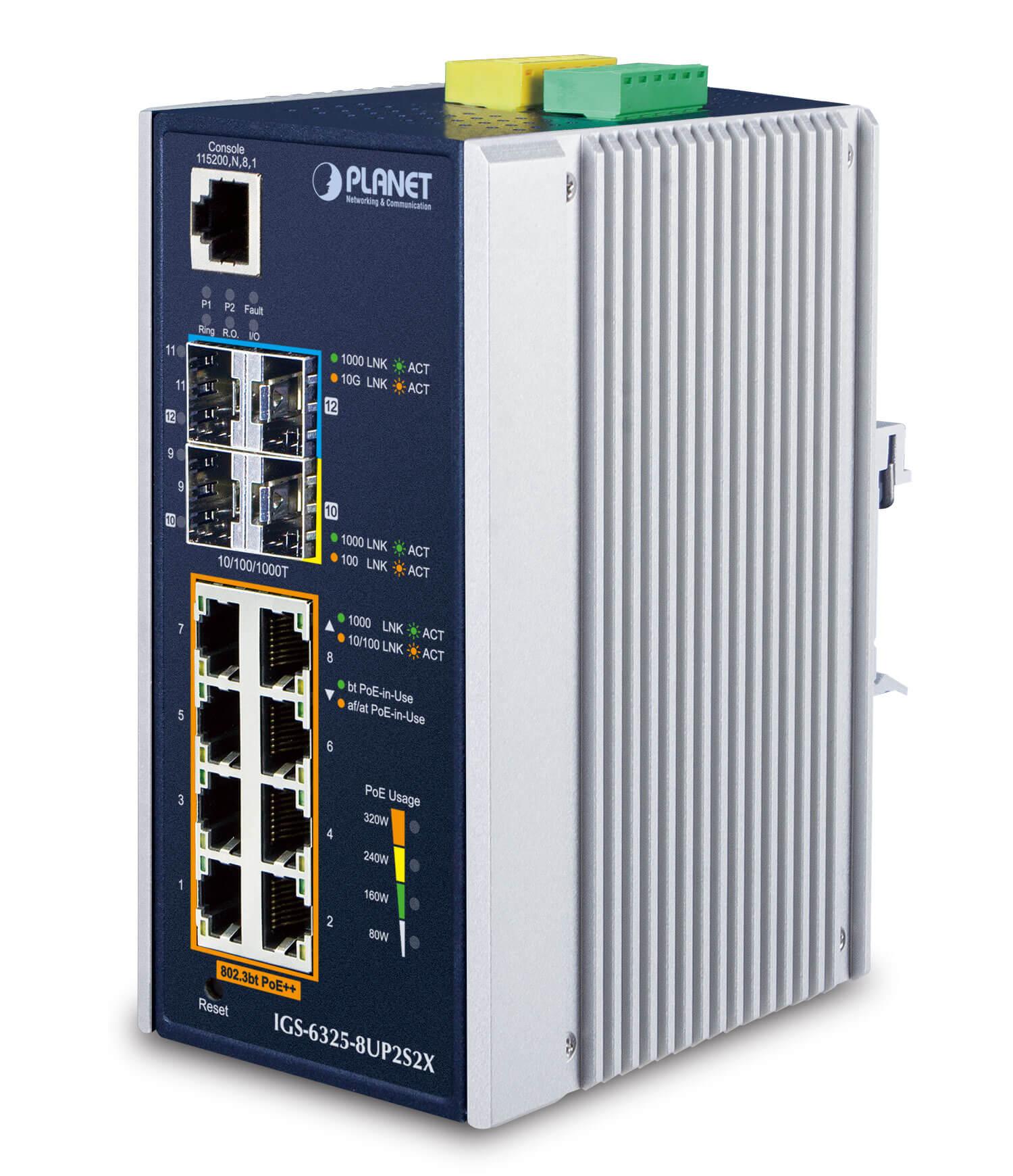 工業級第三層網管8埠90瓦PoE++ 交換器 / 普萊德科技股份有限公司