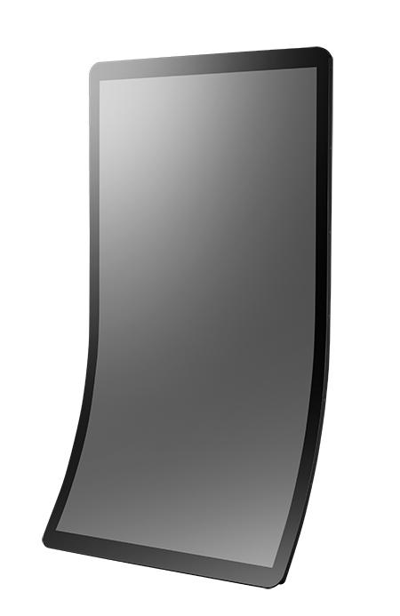 43吋J型曲面多點觸控無邊框顯示器 / 研華股份有限公司