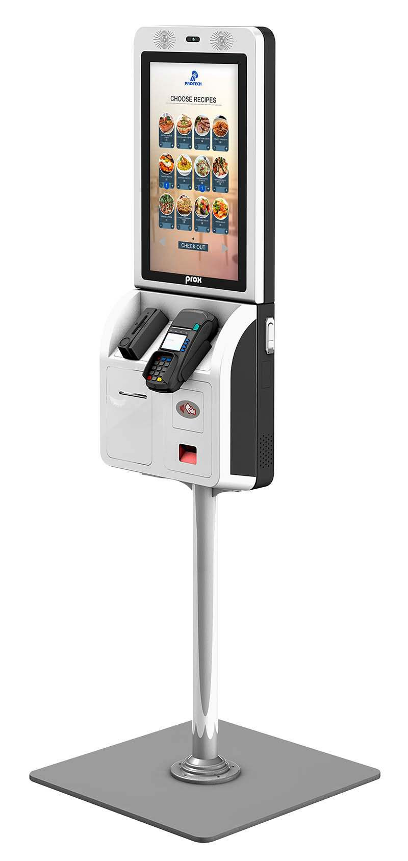 "21.5"" self-service checkout KIOSK system"